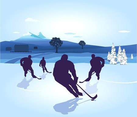 hockey player, skating