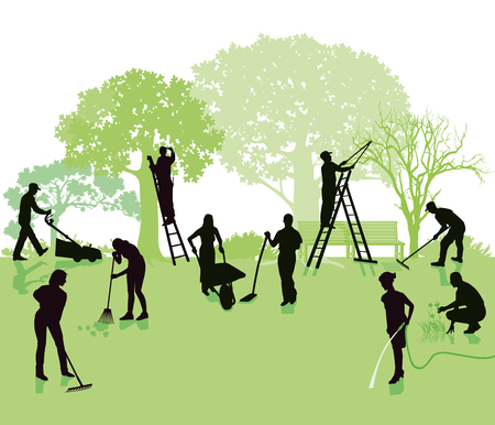 Jardinagem, jardim com jardineiros
