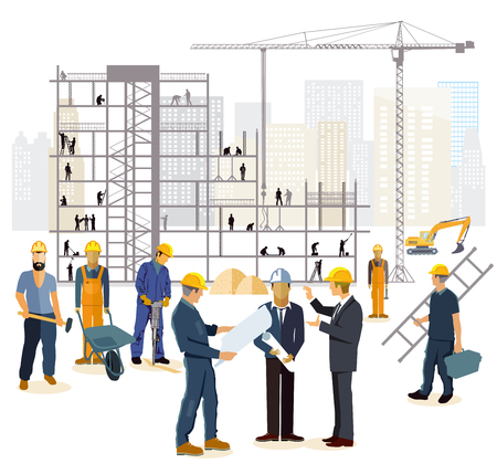 Architekt i inżynier na budowie Ilustracje wektorowe