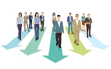 competitor: Forward, future concept, illustration. Illustration