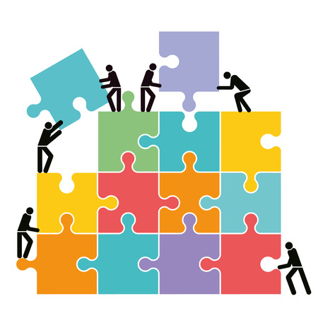 Collaborate and connect, illustration