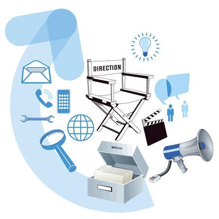 Business development information, illustration Illustration