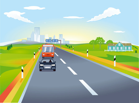 Weg met autoverkeer, illustratie