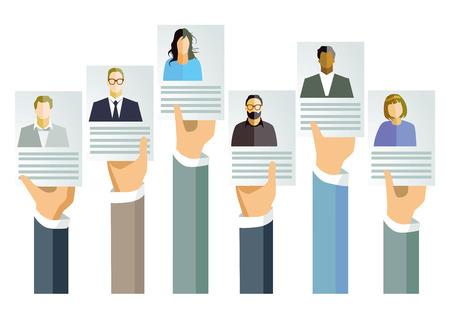 Aplicação, conceito de oferta de emprego
