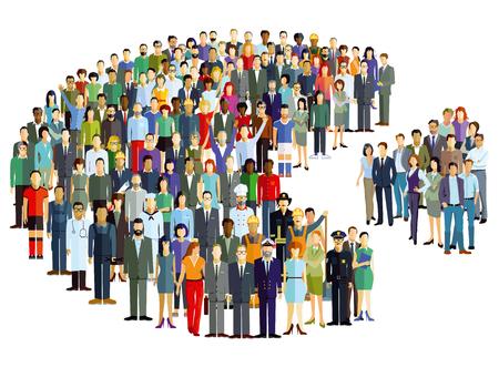 人々 のグループを表す統計情報ベクトルとして  イラスト・ベクター素材