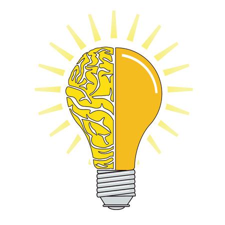 Think, brain symbol illustration Ilustrace
