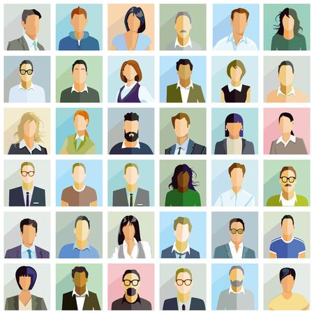 Group people portrait, illustration