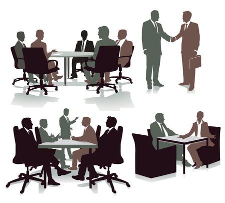 Consulting in the office, illustration Foto de archivo - 99645198
