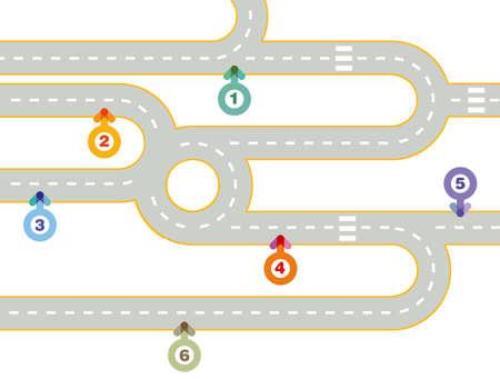 Forward, direction concept, illustration