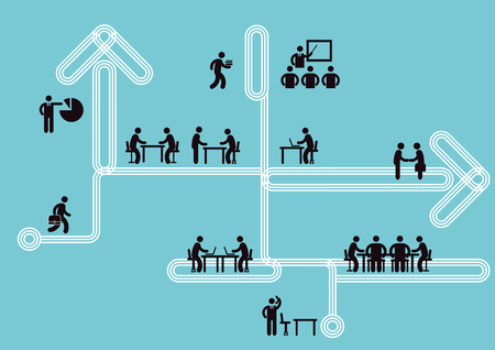 Business Icon Information, Teamwork Concept, Vector Illustration