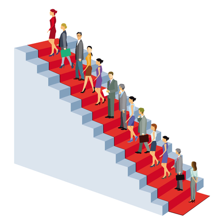 Career climb stairs successfully