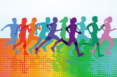 People are running sporty, sport running