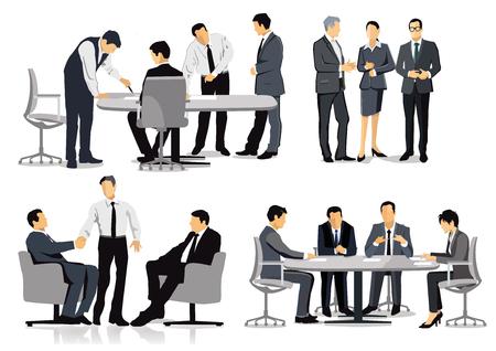 Diskussion und Podium von Geschäftsleuten
