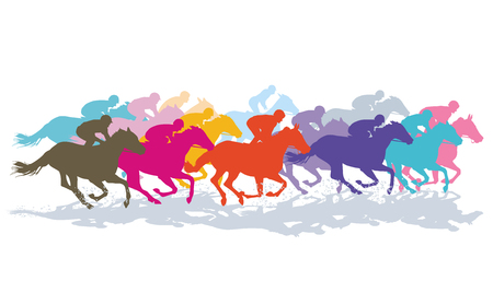 Gallop Horse Racing, Racehorse, Racing Ilustrace