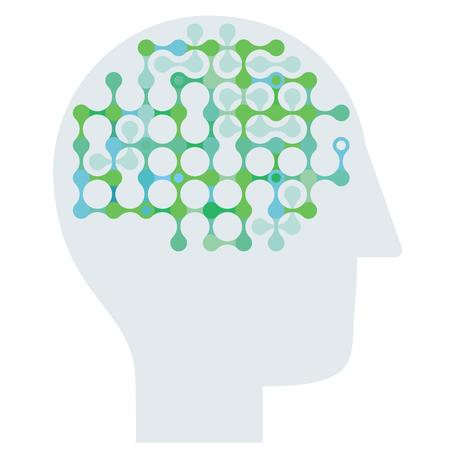 Thoughts symbolic, thinking head