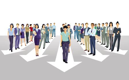 Stride forward direction together Ilustração