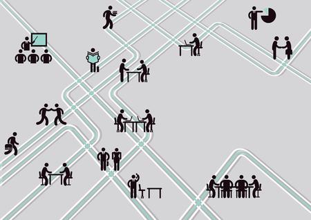 Information graphic, communication concept, vector Ilustração