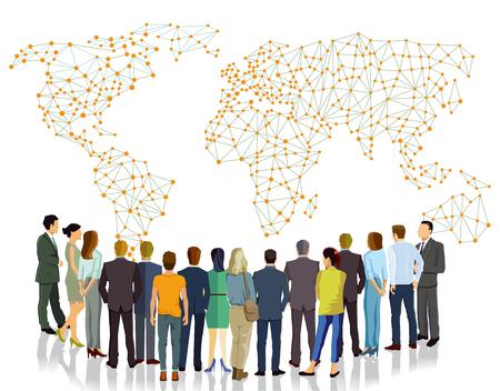 Information communication in the group Ilustração