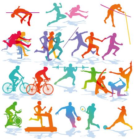 athletes, fitness, athletics illustration Foto de archivo - 110958584