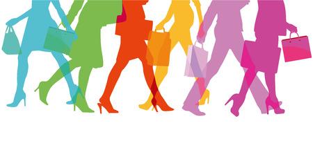 Women shopping with shopping bag