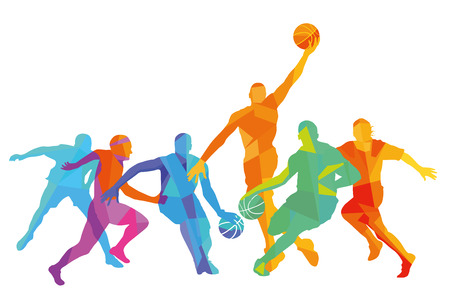 Basketball player at the game, illustration