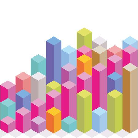 Colored blocks, diagram elements