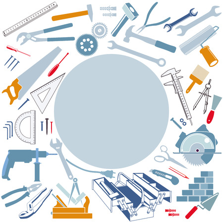 Tool collection set, icon