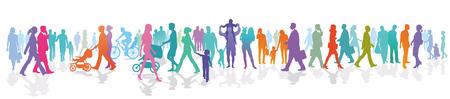 Große Gruppe von Menschen im Freien Vektorgrafik
