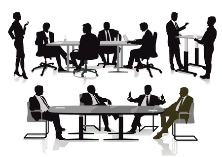 Business team at cooperation - illustration Ilustración de vector