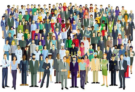 duża grupa ludzi Ilustracje wektorowe