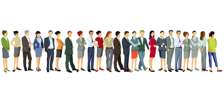 grupa ludzi biznesu stoi razem Ilustracje wektorowe