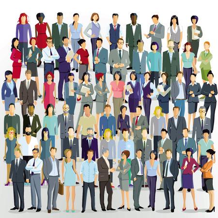 gran grupo de personas