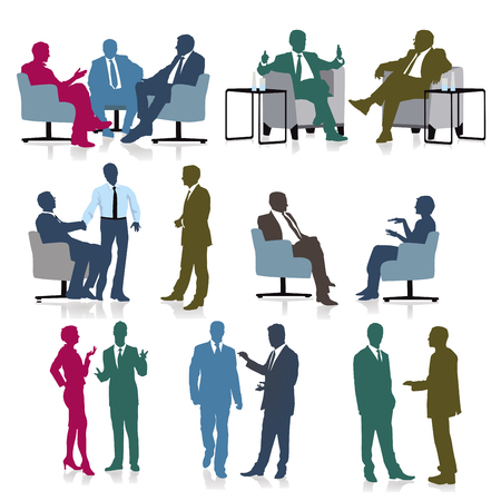 a group of business people are together Stockfoto - 125504888