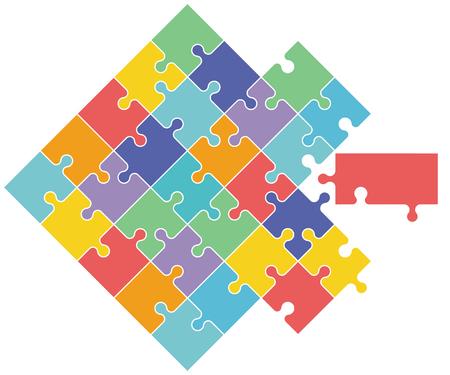 Puzzle, cooperation concept Stockfoto - 125504502