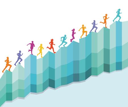 Escaleras de carrera, icono de concepto