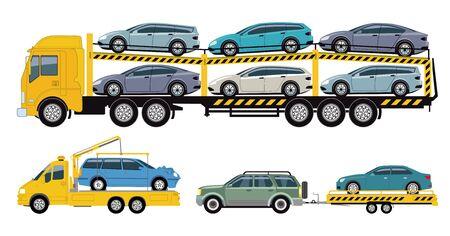 Car Transport Company, Car Transporter Stock Vector - 125503668