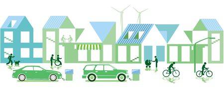 Green city with sustainable development