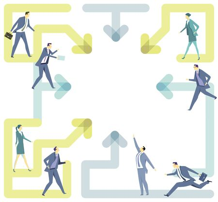 Way connection, cooperation concept Illustration