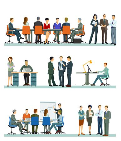 A group of business people at a business meeting in the office