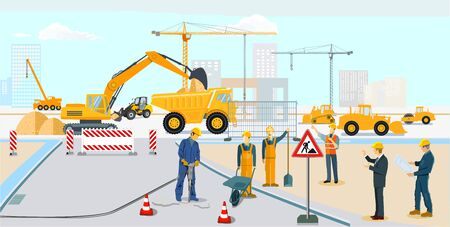 Road construction and building construction