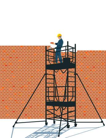 a wall walls concept - vector illustration Ilustração