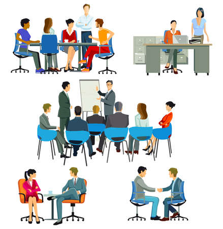 Course and meeting in the office