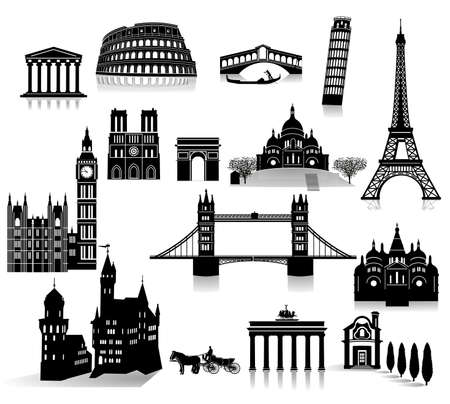 World famous sights in Europe