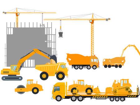 Building construction, concrete construction industry