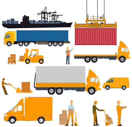 Logistics industry, shipping and delivery