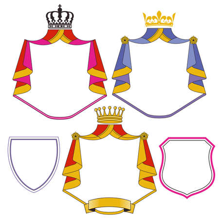 Coat of arms shield icons illustration - vector illustration Ilustração