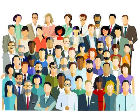 People community, team group - vector illustration