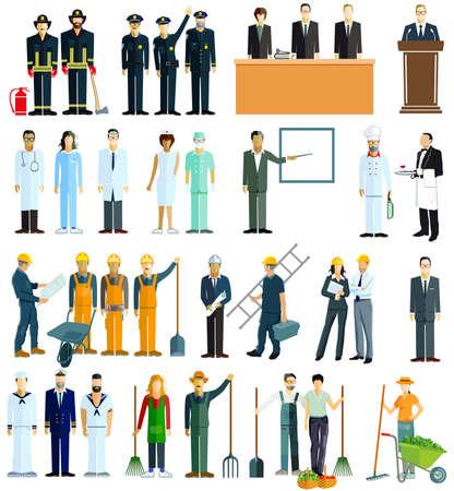 Group of people of different professions Ilustração
