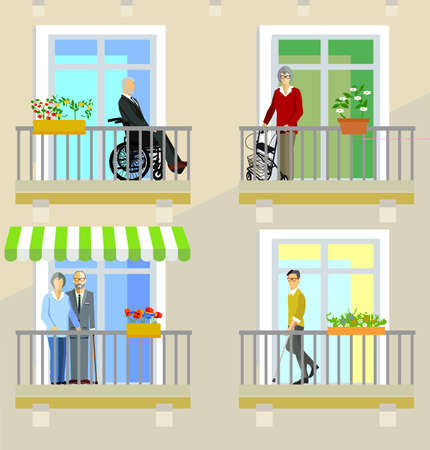 Seniors and the disabled in nursing homes Zdjęcie Seryjne - 159678731