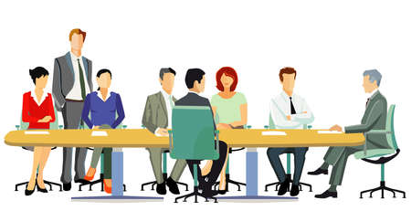 Business team meeting, consulting illustration